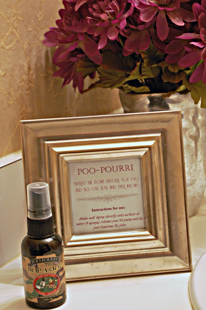 Poo-Pourri Sign for Guest Bathroom to Make Guests Chuckle | missfrugalfancypants.com