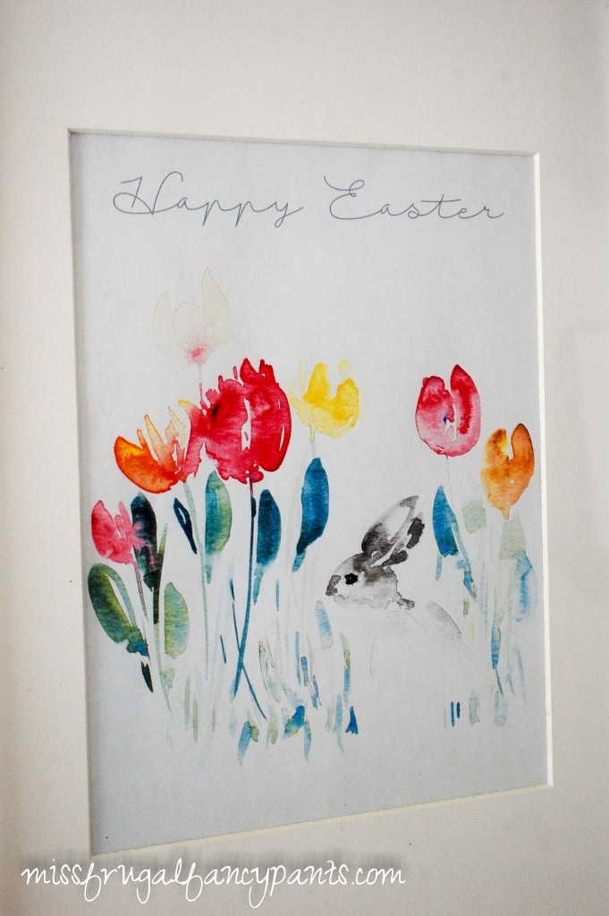Free Easter Printable Watercolor | missfrugalfancypants.com