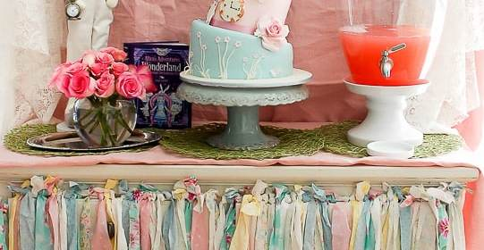 Vintage Shabby Chic Mad Hatter Tea Party