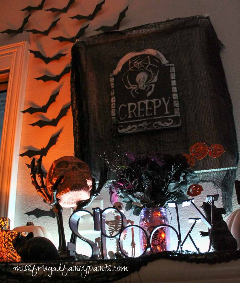 Halloween Decor with LIGHTIFY Lighting | missfrugalfancypants.com