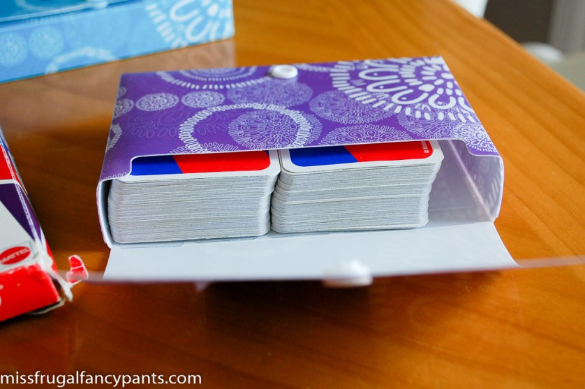 DIY Uno Cards Replacement Box | missfrugalfancypants.com