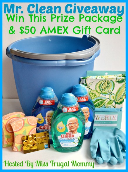 Mr. Clean's Prize Package & $50 AMEX Gift Card Giveaway
