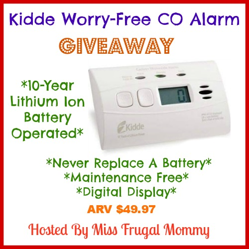 Kidde Worry-Free Co Alarm Giveaway