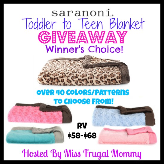 Saranoni Toddler to Teen Blanket Giveaway (Winner's Choice)
