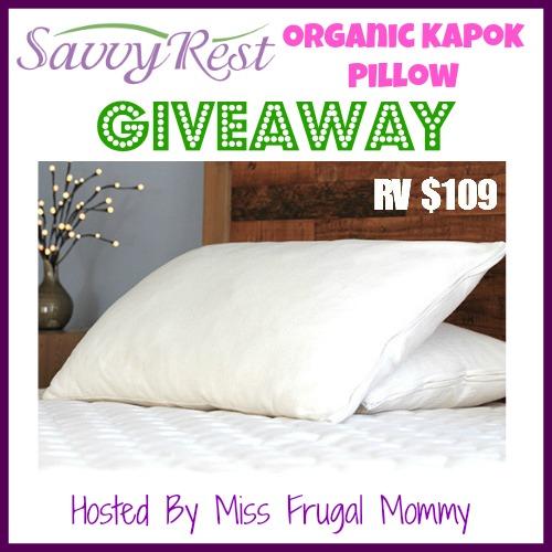 Savvy Rest: Organic Kapok Pillow Giveaway