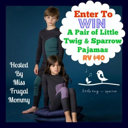 Little Twig & Sparrow Pajama Giveaway