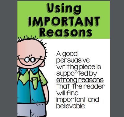 using important reasons