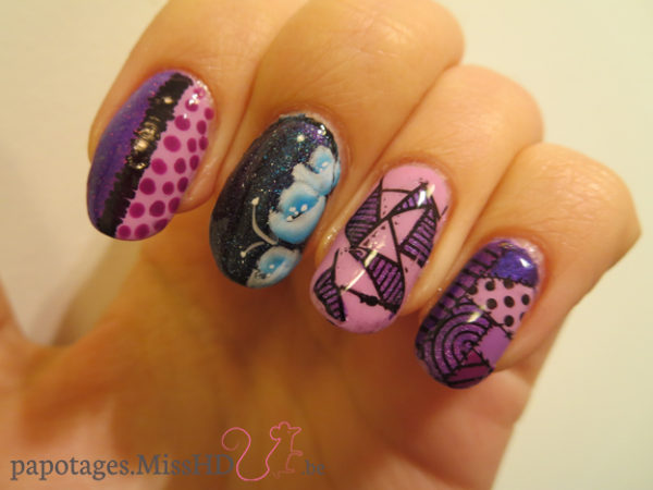 Nail art reverse stamping and co