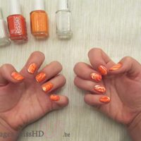 Nail art duo improbable water marble