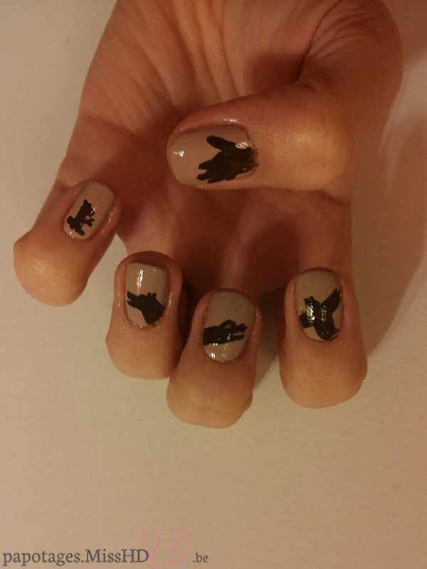 Nail art Ombre chinoise