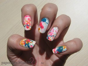 Nail art Splatters