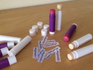 Lippenpflege beschriften Etiketten