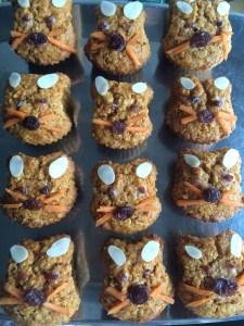 Kaninchen Möhren Muffins