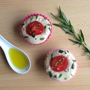 Focaccia Muffins vegan selbstgemacht