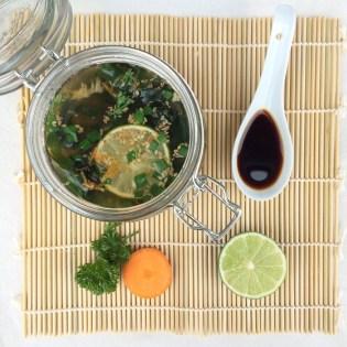 Suppe im Glas lecker selbst gemacht asiatisch