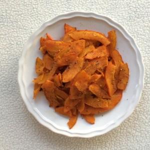 Vegane Chips aus Kürbis gesund lowcarb clean