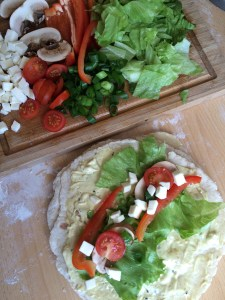 Wraps mit Salat füllen gesund vegan