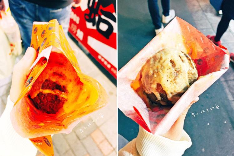 台中西屯美食【雷丸牛肉丸專門店】酥炸爆漿肉丸子球!來自日本的原汁原味!逢甲歡樂星排隊美食!