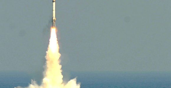 India Test Fires Sub-Launched Ballistic Missile