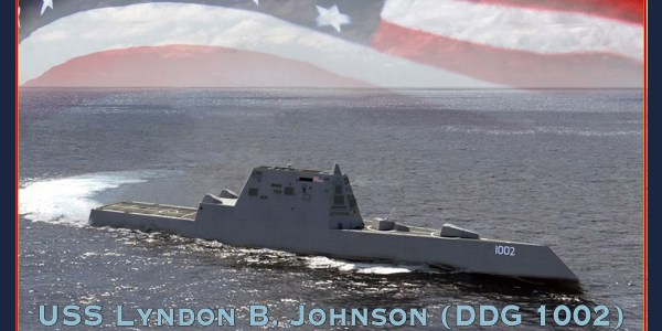 US Navy Launches Third Zumwalt-Class Destroyer