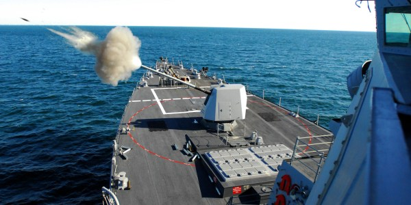 US Navy Tests Hyper Velocity Projectiles on Destroyer