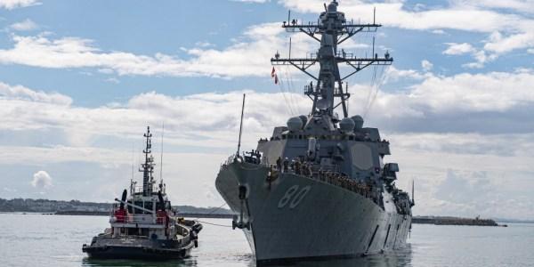 U.S. Aegis Destroyer Arrives in Spain