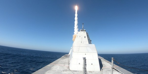 US Navy Tests Surface-to-Air Missile from Zumwalt Destroyer