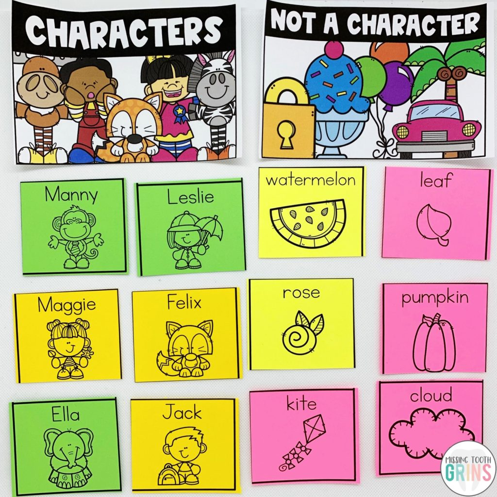 Teaching Main Character And Character Traits