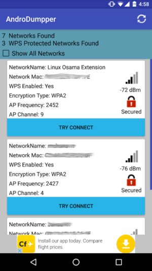 AndroDumpper best wifi hacking app for android