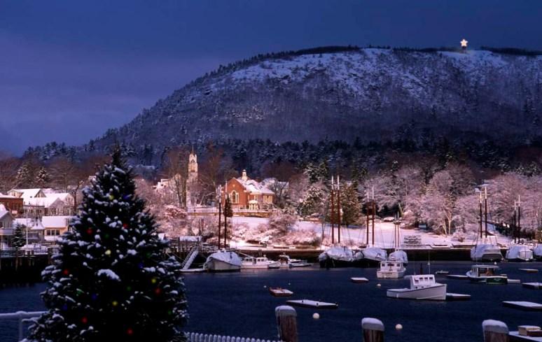 Кэмден, штат Мэн. Зимняя панорама. Источник www.landvest.com