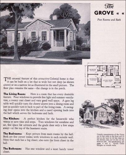 Американский дом: план, колониальный Шингл 1940 год, компания Gordon Van Tine. Источник http://www.antiquehomestyle.com/
