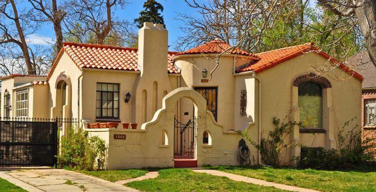 Дом в стиле Spanish Colonial Bungalow, построенный в Денвере в 1930-е годы. Источник denverurbanism.com