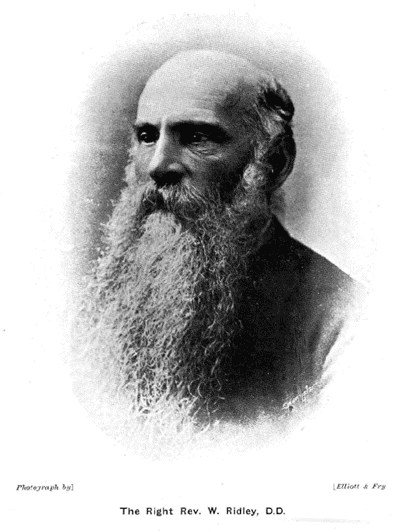 Archbishop William Ridley (22 July 1836 – 25 May 1911)