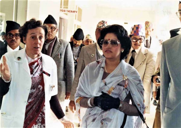 Dr Inchley and the Queen of Nepal