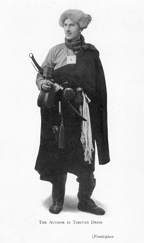 Frontispiece: Frank Doggett Learner [1886-1947], Rusty Hinges. A Story of Closed Doors Beginning to Open in North-East Tibet. A photograph of the author in Tibetan Dress