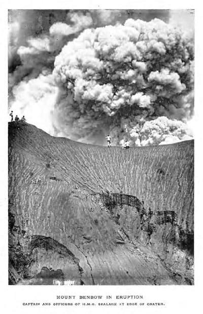 Mount Benbow in Eruption (frontispiece)