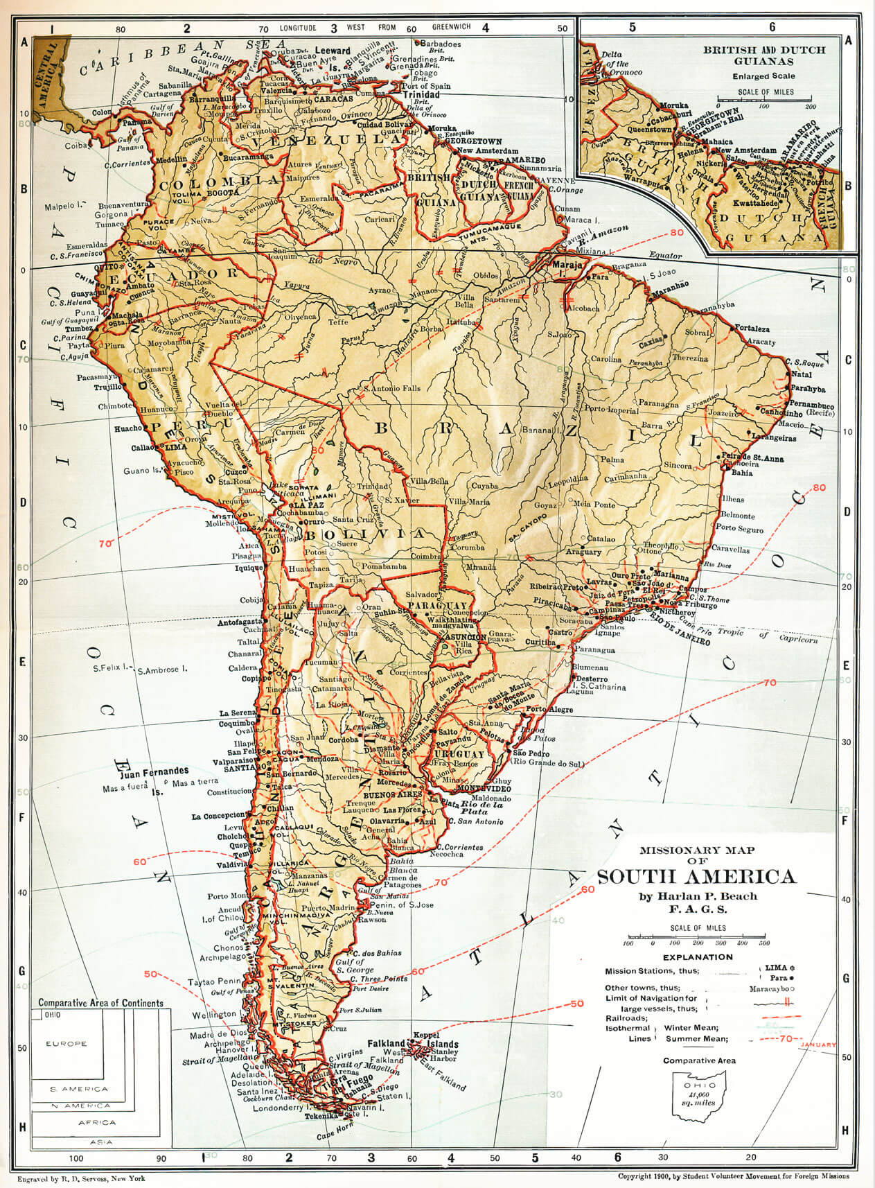 Map Of America 1900.Protestant Missions In South America To 1900 Missiology Blog