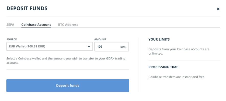 Bitcoins kaufen - Geld zwischen GDAX und Coinbase transferieren