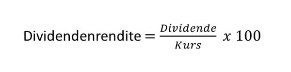 Was ist eine Dividende - Formel Yield
