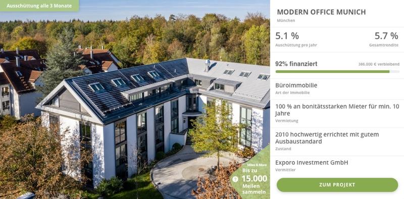 Exporo Bestand Beispiel 2 - In Immobilien investieren