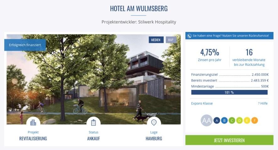 Exporo Finanzierung Schritt 1 - In Immobilien investieren