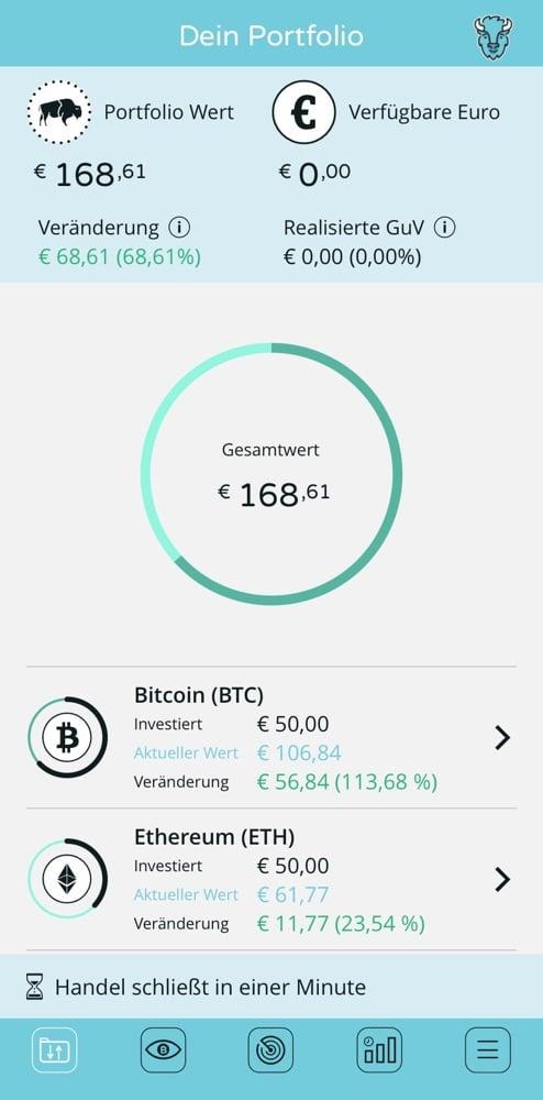 Screenshots Bison App - Börse Stuttgart 1