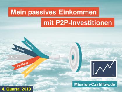 4. Quartal 2019: Mein passives Einkommen mit P2P-Investitionen