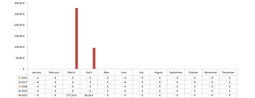 Optionsdepot & Einkommen durch den Optionshandel - Offene Optionen Chart 2020