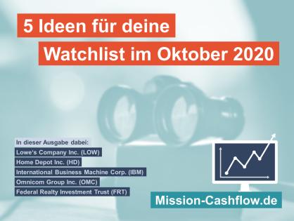 5 Ideen für deine Watchlist im Oktober 2020