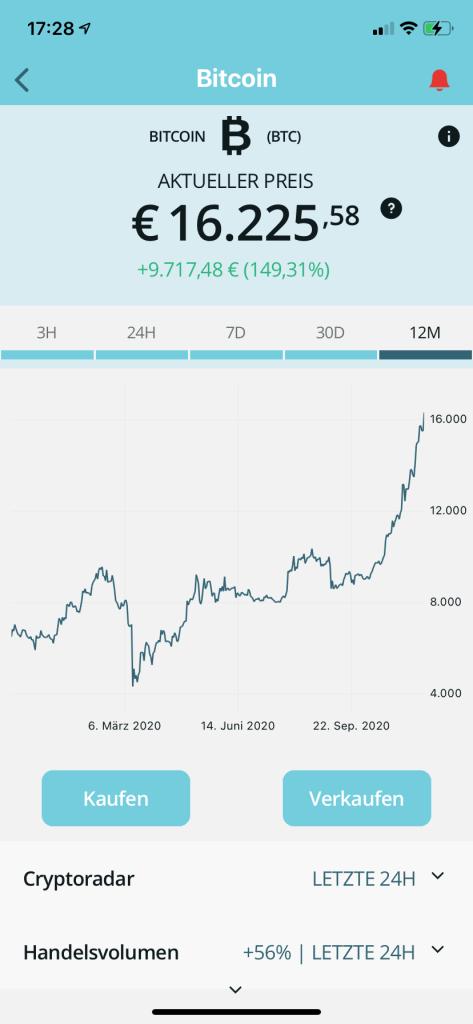 Bitcoin kaufen in 2020 - Bison App 3
