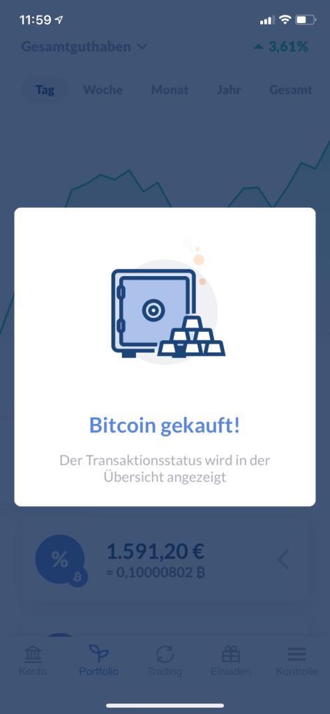 Bitcoin kaufen in 2020 - Bitwala App 1