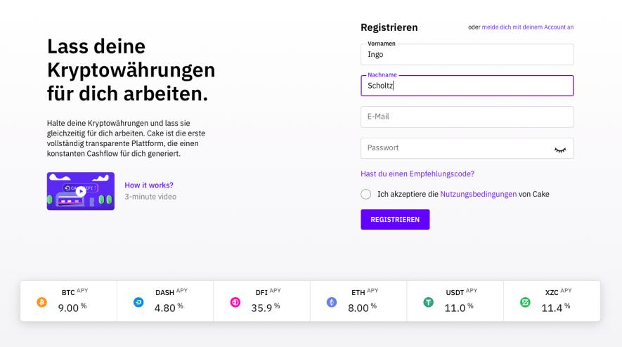 Bitcoin kaufen in 2020 - Cakedefi App 1