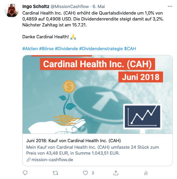 Twitter im Mai - Mission-Cashflow - Passives Einkommen mit Dividenden