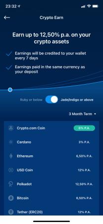 Crypto Earn Lending mit Crypto.com - Crypto Earn Konditionen 1